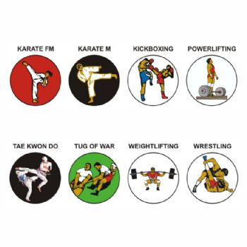 Physical/Combat Sports K-W pk of 5 25mm centres-